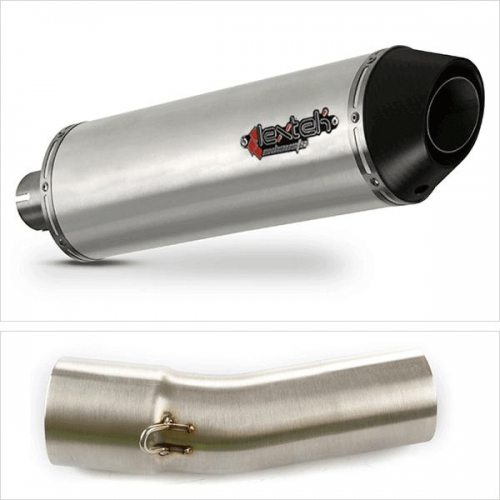 08-18 Lextek XP8CL Exhaust Silencer with Link Pipe for BMW F 800 R EXHKIT17630