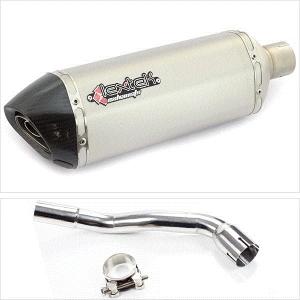 Lextek ST1 Matt S//Steel Hexagonal Exhaust Silencer 60mm